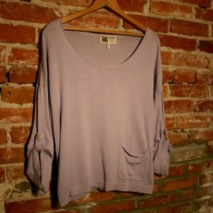 Habitat Cotton + Modal Button Sleeve Pocketed Knit
